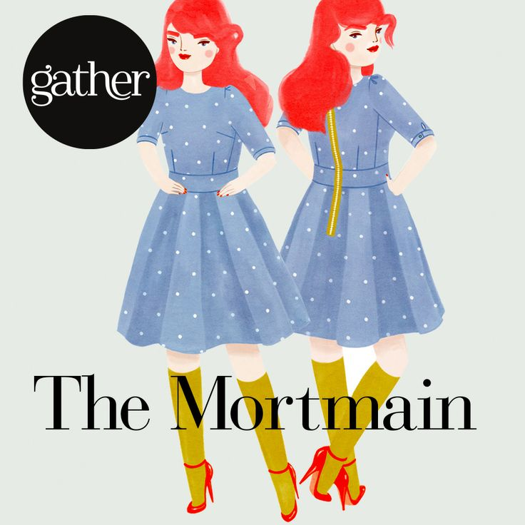 The Mortmain dress sewing pattern. Buy here: http://gatherkits.com/shop/product/the-mortmain Illustrations by Kris Atomic