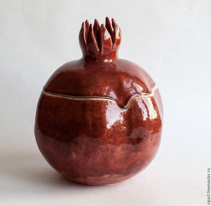 "Купить Шкатулка ""Гранат"" - бордовый, гранат, шкатулка, керамическая шкатулка, керамический гранат, гранатовый"