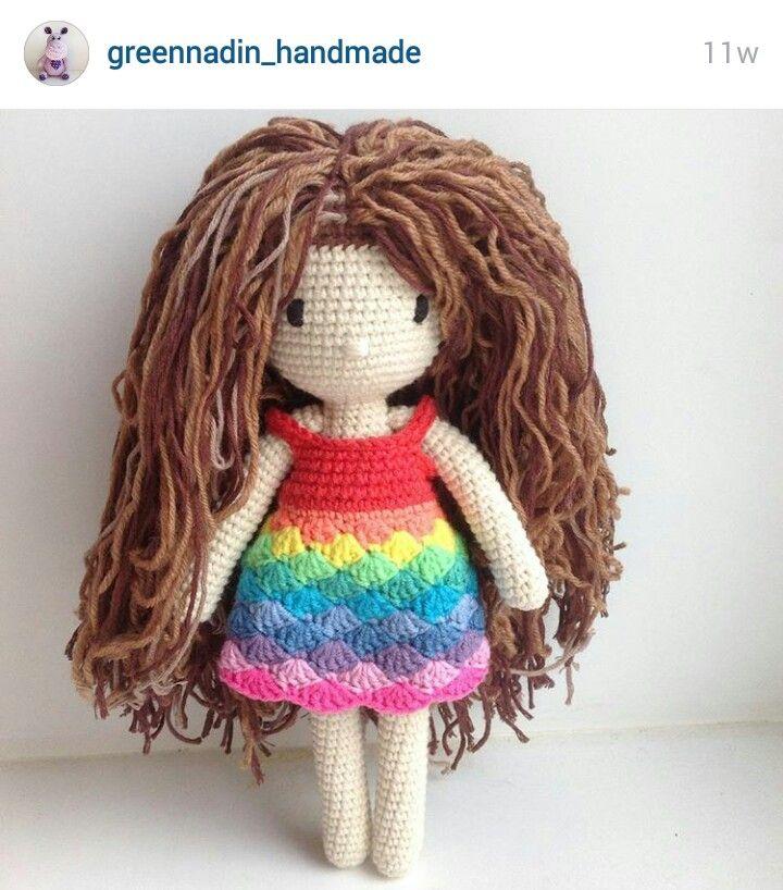 Amigurumi Crochet Hair : Instagram. PICTURE ONLY for inspiration. Crochet amigurumi ...