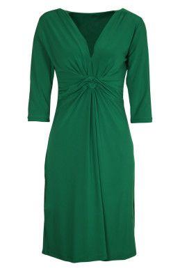 Y V-Neck Long Sleeve Dress - dress for an apple body shape