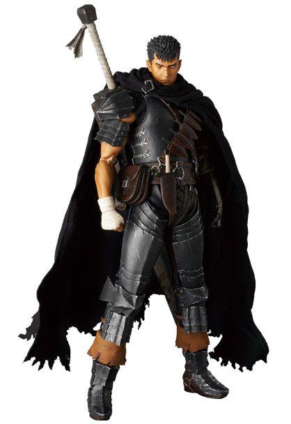 Berserk Golden Age Arc figurine RAH Guts Black Swordsman Ver. Medicom