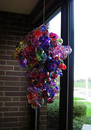 Pretty darned awesome. Kids looked at Chihuly sculptures the came up with their own--made of melted plastic cups.