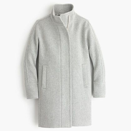 Petite stadium-cloth cocoon coat : outerwear & blazers | J.Crew