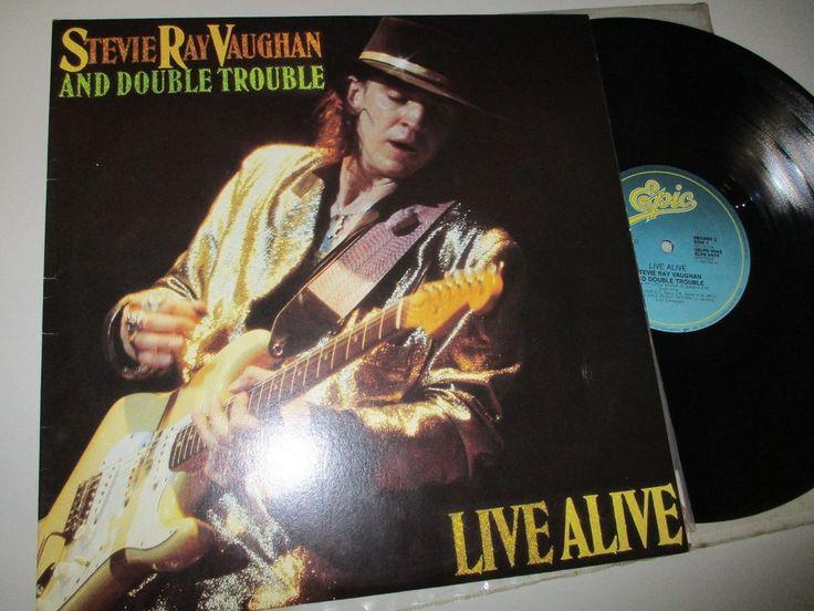 Stevie Ray Vaughan & Double Trouble Live Alive Blues Rock 2-LP G/F Aust 1986 N/M #BluesRock