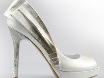Bride Shoes Ivory ,high heels,leather, Brautschuh
