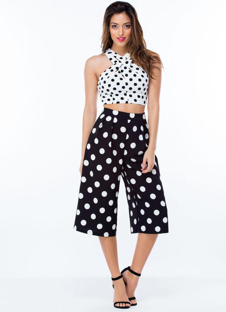 Polka Dot Printcess Culotte Jumpsuit