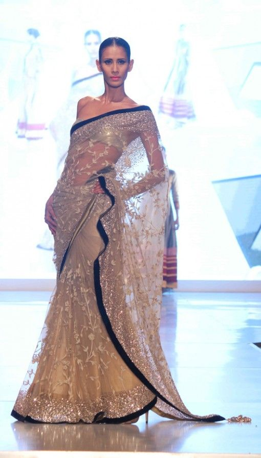 Manish Malhotra sheer embroidered sari