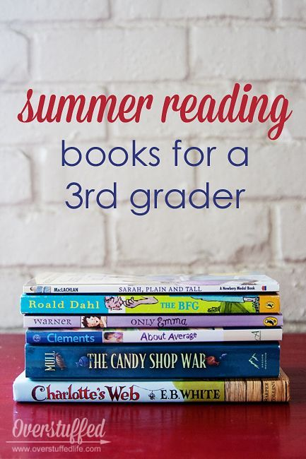 Summer reading books appropriate for a child entering 3rd grade. #overstuffedlife
