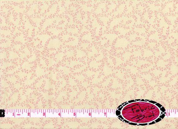 CREAM LEAF Fabric By The Yard Half Or Fat FabricBrat 300 Shabby Chic