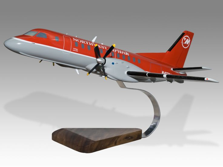 Saab 340 Northwest Airlink (Mesaba Airlines) Private & Civilian $149.50 PlaneArts Private and Civilian Airplane and Aircraft Wood Handmade Models - Commercial Mahogany Wood Model Aircraft Model. Wholesale and Retail
