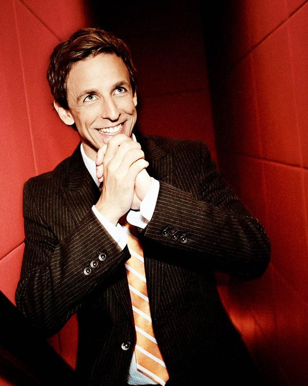 Such a cutie PLUS super funny!! -20 Facts About Seth Meyers That Will Make You Love Him Even More