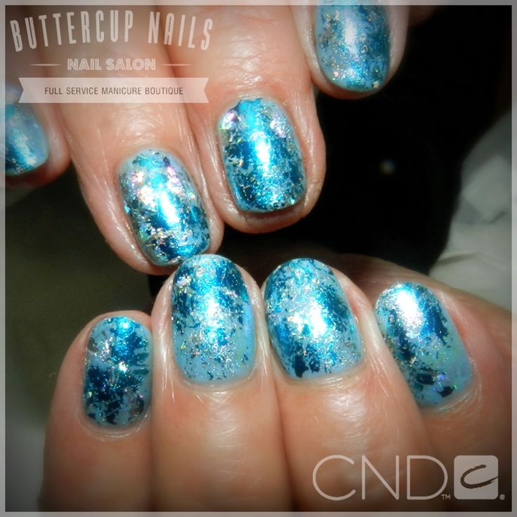 CND Shellac in Azure Wish with blue, silver and holographic foil.  #CND #CNDWorld #CNDShellac #Shellac #nails #nail #nailstagram #naildesign #naildesigns #nailaddict #nailpro #nailart #nailartist #nailartdesign #nailartofinstagram #nailartdesigns
