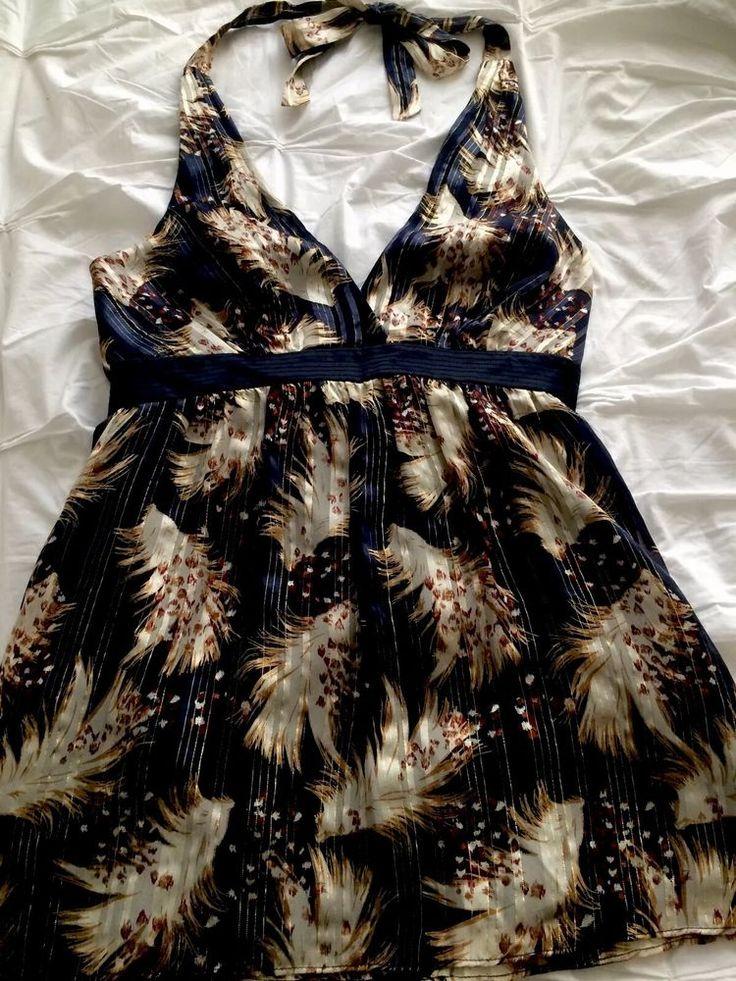 Silk Halter neck Top By Laundry. Designer Shelli  Segal Size 10