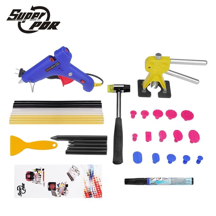 (53.65$)  Watch more here  - Super PDR Tools Dent repair Tools High Quality Dent Puller Tabs Rubber Hammer Car Dent removal Repair tool set