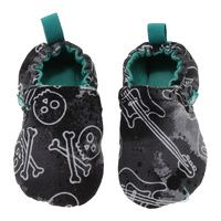 WeeChooze in Rock Weechooze Baby Booties: Designed to delight tiny toes and engage little inquisitive minds, weechooze features CHOOZE's signature coordinating prints, stimulating colors, super soft microfiber lining, elasticized ankles, and non-slip soles. Available in 3 sizes: 0-6 months, 6-9 months, and 9-12 months.