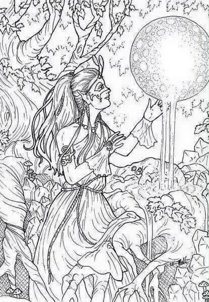 64 best images about Elves coloring on Pinterest