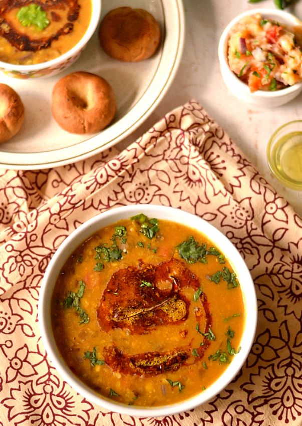 Rajasthani Panchmel Dal- five lentil mix curry | The Veggie Indian