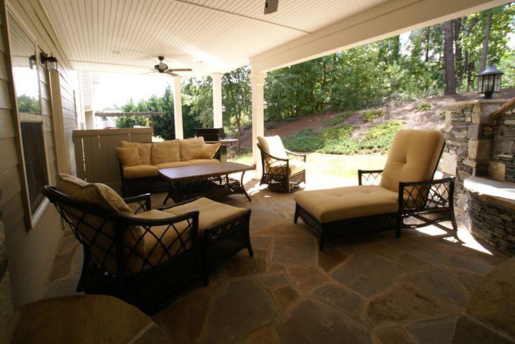 Outdoor room under deck screen porch under deck for Outdoor kitchen under deck