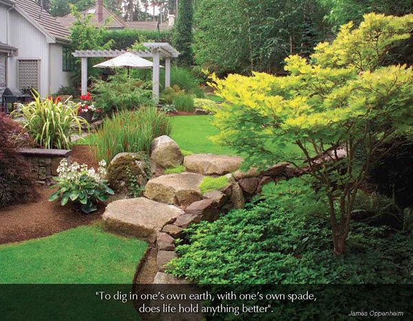 "Flowers & Gardens - 2016 Promotional Calendar  June 2016 - Backyard Garden  ""To dig in one's own earth, with one's own spade, does life hold anything better"".  James Oppenheim"