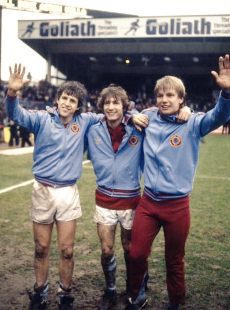 Colin Gibson, Gordon Cowans, & Gary Shaw Aston Villa 1981