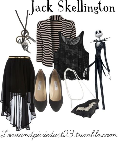 Jack Skellington by loveandpixiedust featuring a black skirt