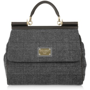 Dolce & Gabbana Miss Sicily Prince of Wales check tote