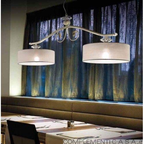 Charme lampadario a bilanciere 2 luci in ferro battuto