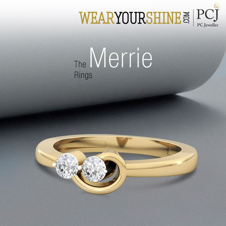 "Stay happy and blossom all day long with ""The Merrie Ring"" by WearYourShine  #WearYourShine #Love #PCJeweller #Fashion #Jewellery #Jewelry #Rings #Wedding #Engagement"