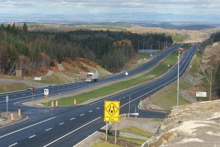 The road 175 between Quebec City and the Saguenay-Lac-Saint-Jean region.