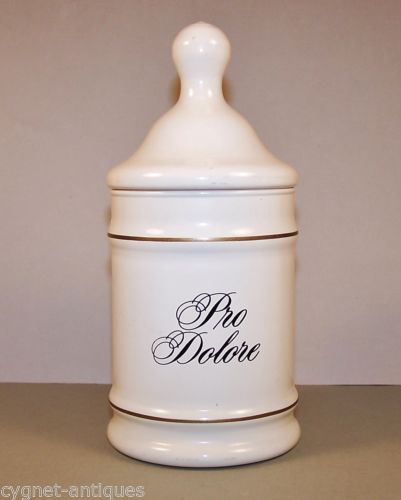 Vintage-Apothecary-Glass-Jar-Pro-Dolore-Lilly-Pharmaceutical-Co