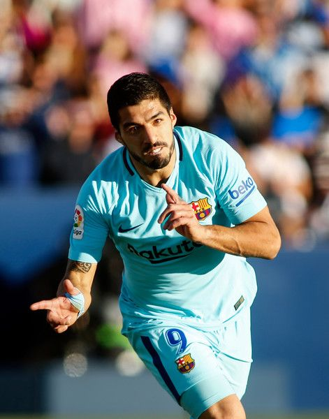 ... goal during the Spanish league football match Leganes vs Barcelona at  the Butarque stadium in Leganes on November 18 e9ec031d4a375