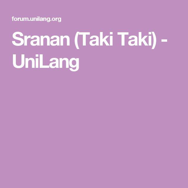 Sranan (Taki Taki) - UniLang