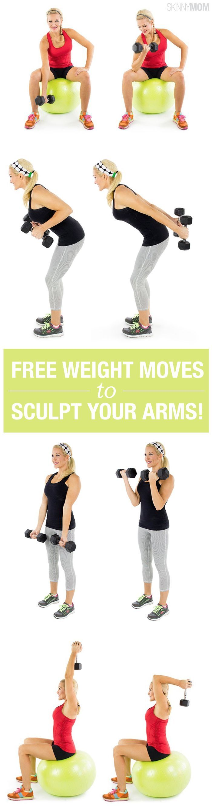 Sculpt your arms with 17 free weight moves. Grab those dumbbells!