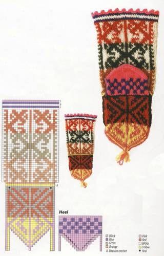 Вязание пятки у джурабов