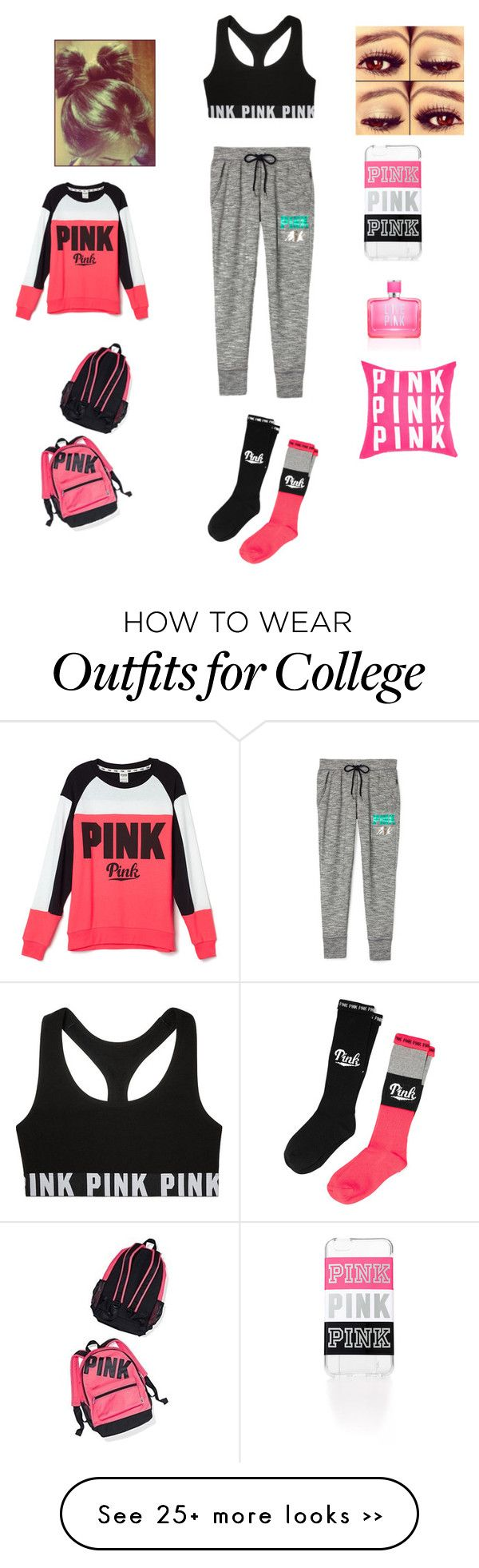 """On Wednesday's We Wear Pink"" by lexytoste on Polyvore featuring Victoria's Secret and Victoria's Secret PINK"