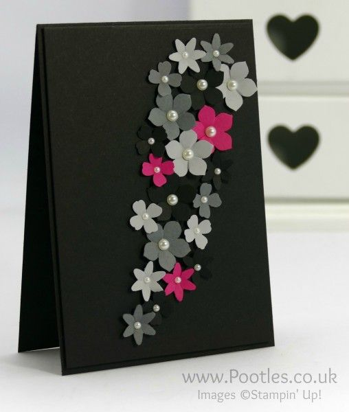 Grey Grey And A Splash Of Pink Stamping Fun Scrapbook Cards