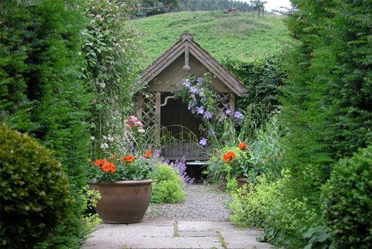 Milebrook House Hotel Gardens, near Knighton, Powys & Shropshire