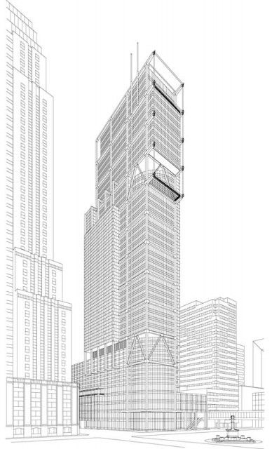 Architectural Drawings Of Skyscrapers interesting architecture blueprints skyscraper design house a for