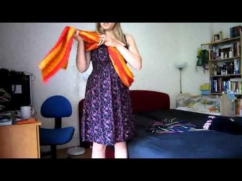 Karikás kendő, csípőn hordozás, tekert változat - YouTube