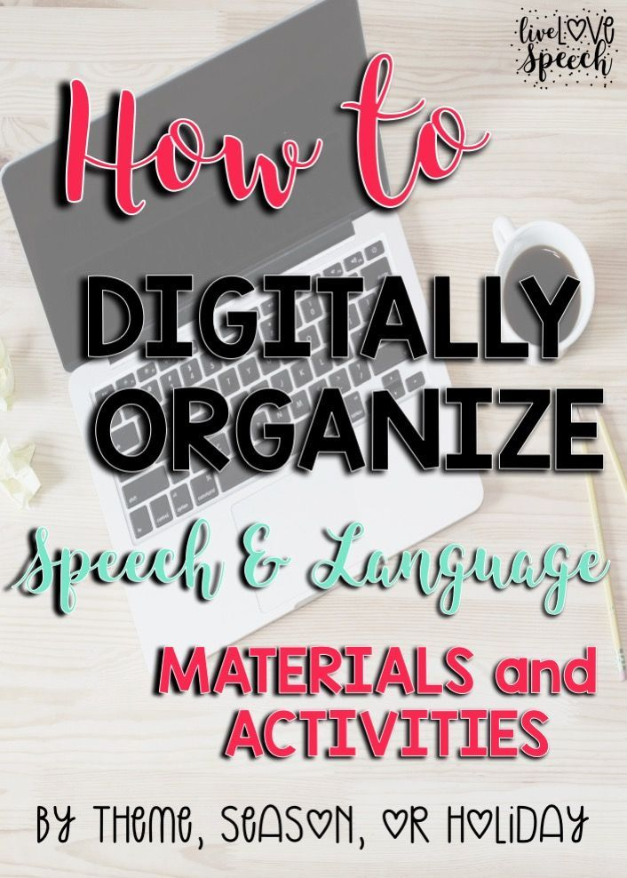 How to Digitally Organize Speech and Language Activities {by theme and season}