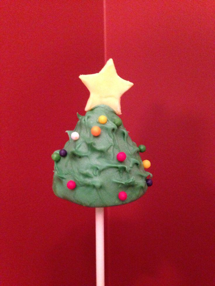 Christmas tree cakepop