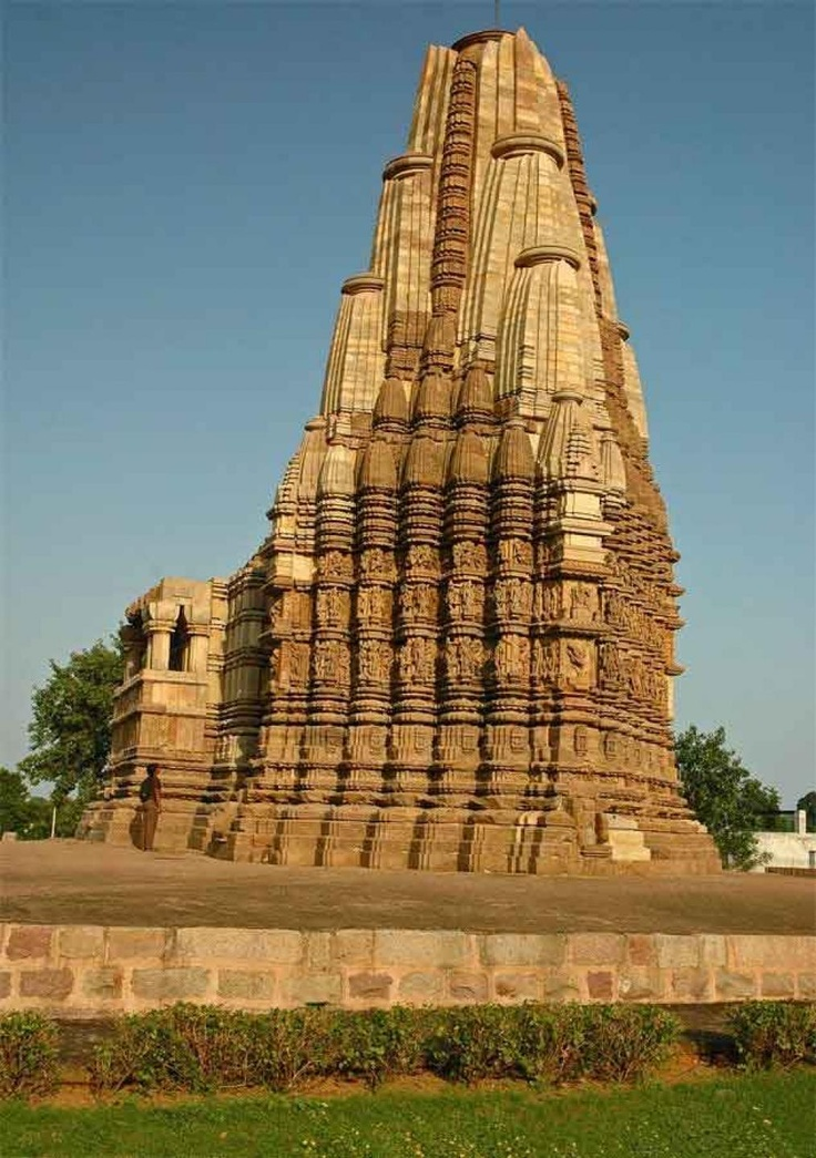 Khajuraho, Madhya Pradesh, India. The Khajuraho Group of Monuments in the Indian state of Madhya Pradesh, about 620 kilometres southeast of New Delhi, is one of the most popular tourist destinations in India.