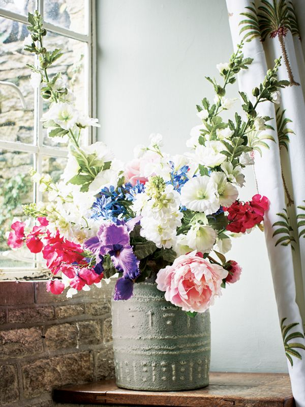 Bring the beauty and spring wildness of an English country garden into your home with the Willow Crossley for OKA collection of faux flowers.