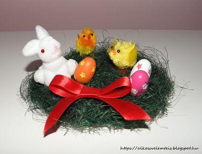 Diy easter bunny decoration. Húsvéti asztaldísz pár perc alatt.