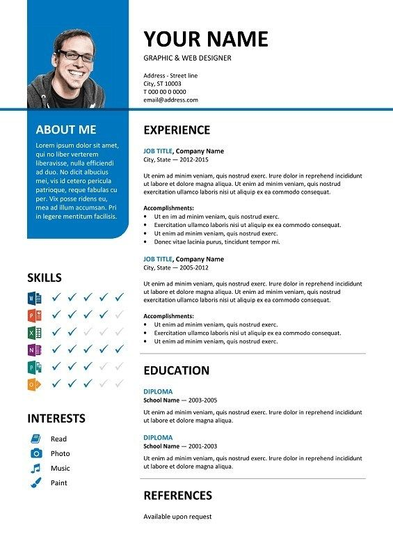 100 Free Resume Templates Psd Word Utemplates In 2020 Microsoft Word Resume Template Cv Template Resume Template Free