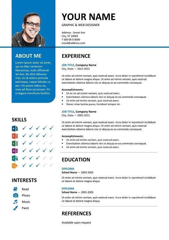 100 Free Resume Templates Psd Word Utemplates Microsoft Word Resume Template Cv Template Resume Template Word