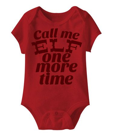 Red 'Call Me Elf' Bodysuit - Infant by American Classics on #zulily
