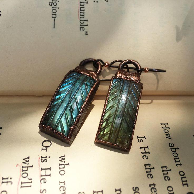 Sensitive Ear Labradorite Leaf Earrings, available in my shop! CrystalJewelryAffair on Etsy #labradorite #labradoriteleaf #leafearrings #leafjewelry #crystalleaf #crystalearrings #crystaljewelry #labradoriteearrings #greencrystalearrings