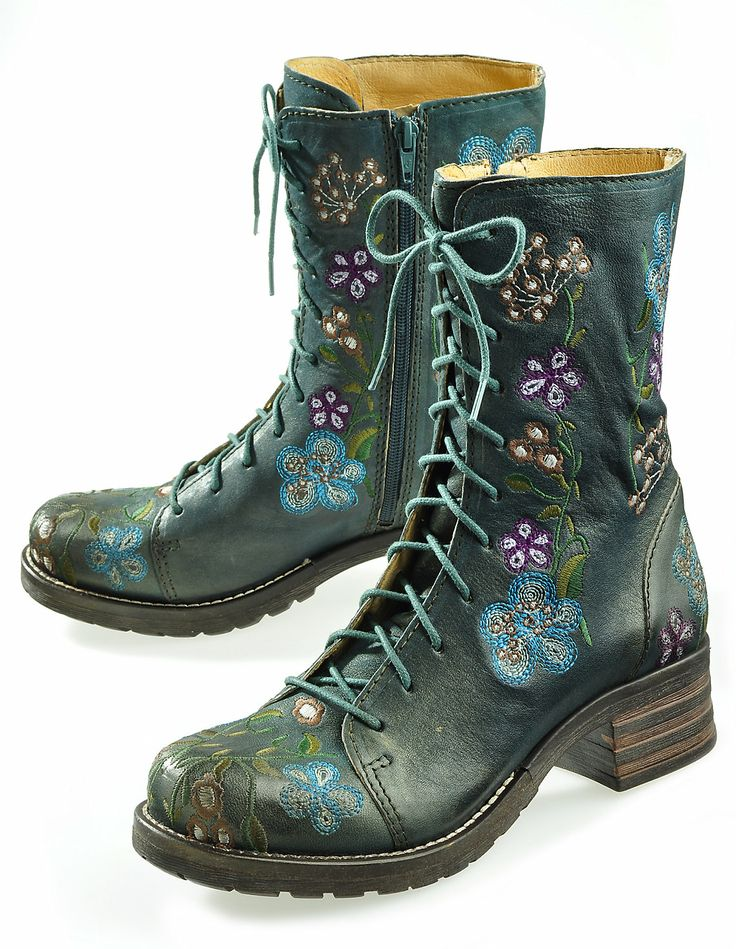Brako 'Felina', green - Ankle Boots - Deerberg