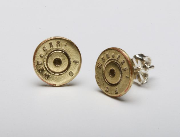 Two Brass .22's that are 7mm in diameter with Sterling Silver posts.